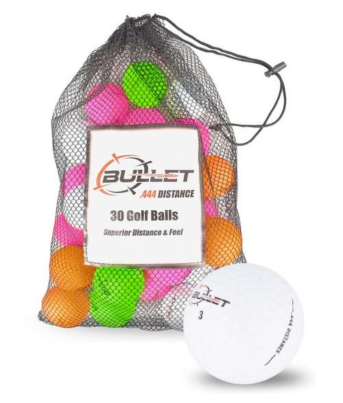 Bullet .444 Distance Matte Colored Golf Balls [30-Ball]