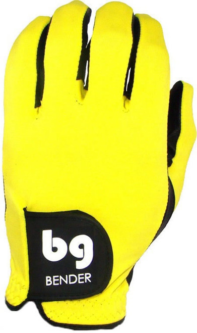Bender Gloves- MLH Colored Golf Glove Spandex Yellow
