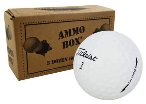 Titleist Pro V1 Mint Refinished Used Golf Balls *36-Ball Ammo Box*