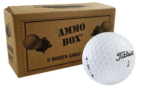 Titleist NXT Mint Refinished Used Golf Balls *36-Ball Ammo Box*