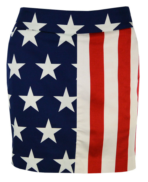 Loudmouth Golf- Ladies Stars & Stripes StretchTech Fabric Skort