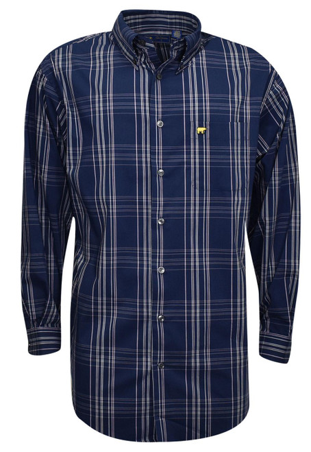 Jack Nicklaus- Long Sleeve Large Scale Plaid Woven Shirt