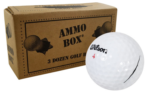 Wilson Staff Mix Mint Used Recycled Golf Balls *36-Ball Ammo Box*