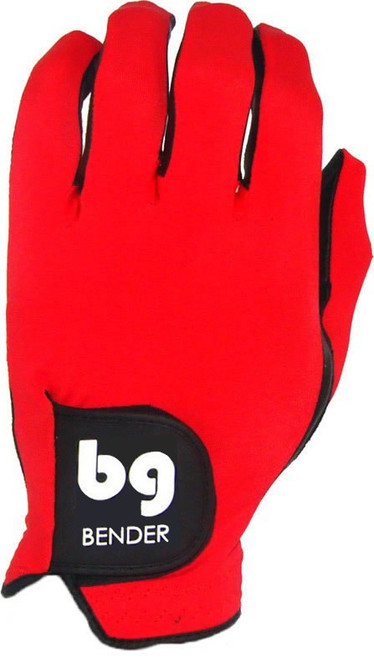 Bender Gloves- MLH Colored Golf Glove Spandex Red
