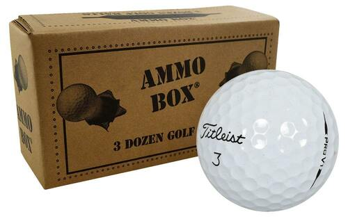 Titleist Pro V1 Fair Recycled Used Golf Balls *36-Ball Ammo Box*