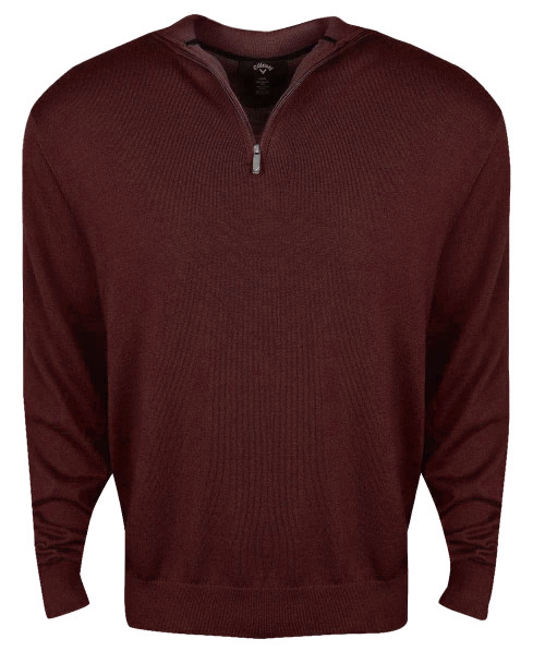Callaway Golf 1/4-Zip Easy Care Merino Wool Sweater
