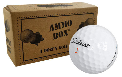 Titleist Surlyn Overrun Golf Balls *12-Ball Ammo Box*