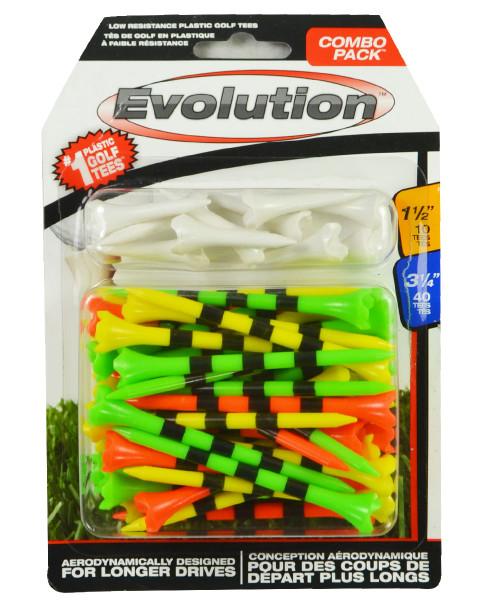 "PrideSports Golf- 3 1/4"" & 1 1/2"" Evolution Golf Tees Combo Pack"