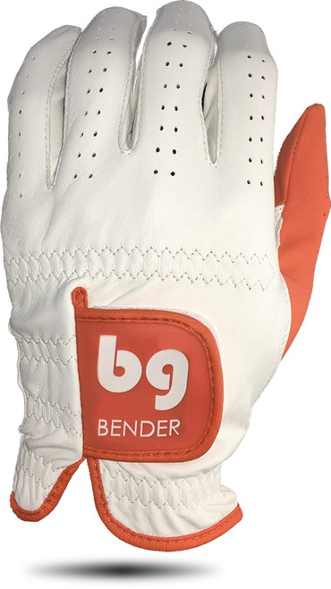 Bender Gloves- MLH Elite Cabretta Leather Glove White with Orange