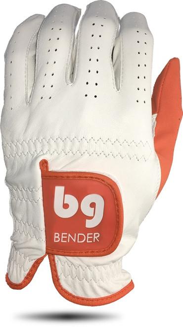 Bender Gloves- MLH Elite Cabretta Leather Glove White with Orange