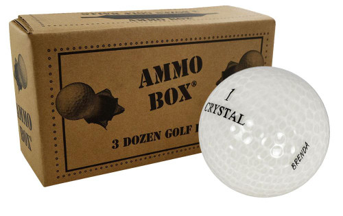 Assorted Crystal Mix Mint Recycled Golf Balls *36-Ball Ammo Box*