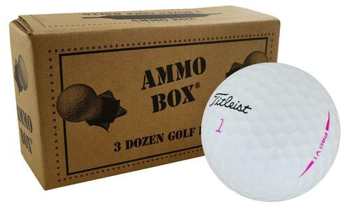 Titleist Pro V1 Fair Recycled Used Pink Golf Balls *3-Dozen*