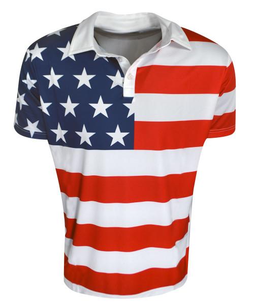 Loudmouth Golf- Stars & Stripes Fancy Shirt