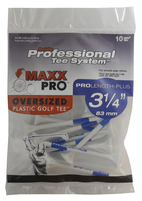 PrideSports Golf- MaxxPro Oversized Plastic Tees (10 Pack)