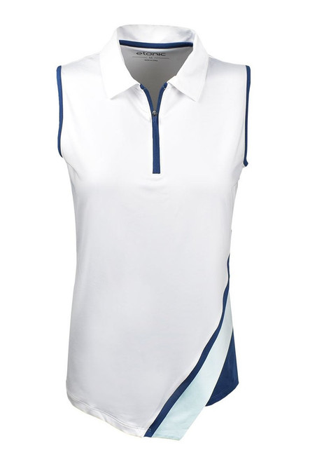 Etonic Golf- Ladies 1/2 Zip Asymmetric Sleeveless Polo