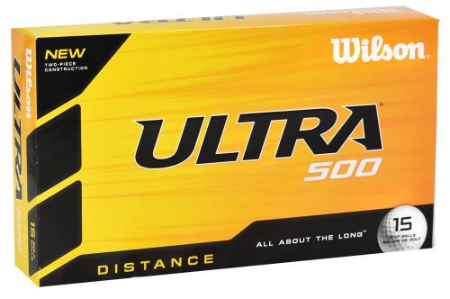 Wilson- Ultra 500 Distance Golf Balls [15-Ball] LOGO ONLY