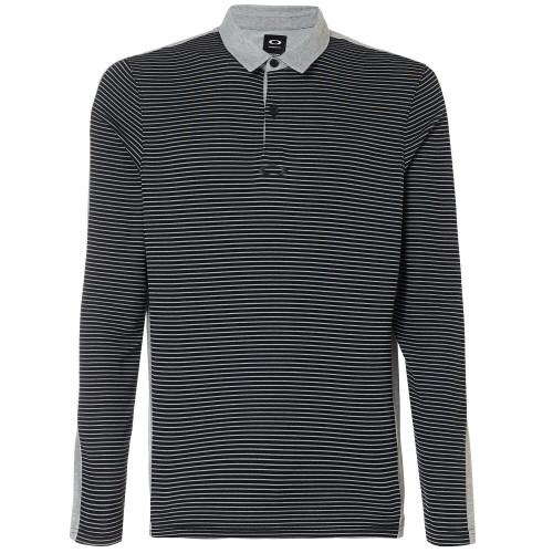 Oakley Golf- Long Sleeve Striped Polo Shirt