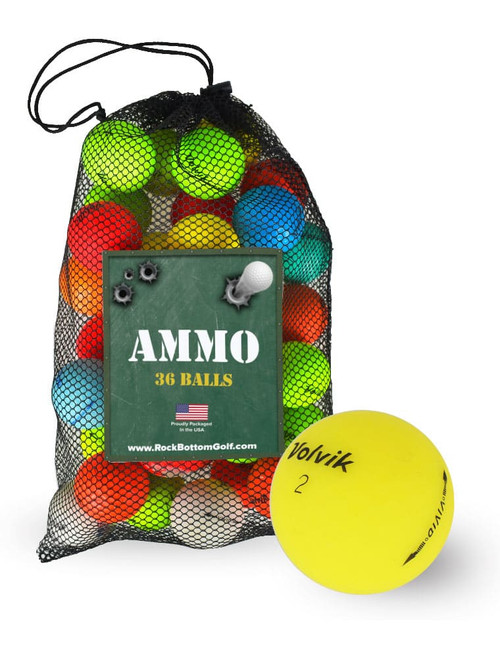 Volvik Vivid Mix Recycled Near Mint Used Golf Balls [36-Ball]