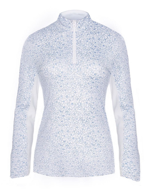 Callaway Golf- Ladies Swing Tech Floral Print Sun Protection Pullover
