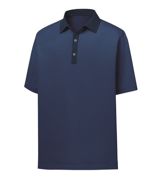 FootJoy Golf- Stretch Lisle Mini Check Print Polo