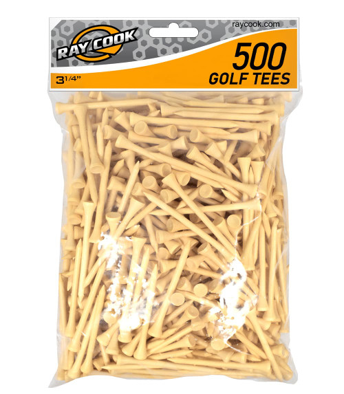 """Ray Cook Golf- 3 1/4"""" Tees (500 Pack)"""