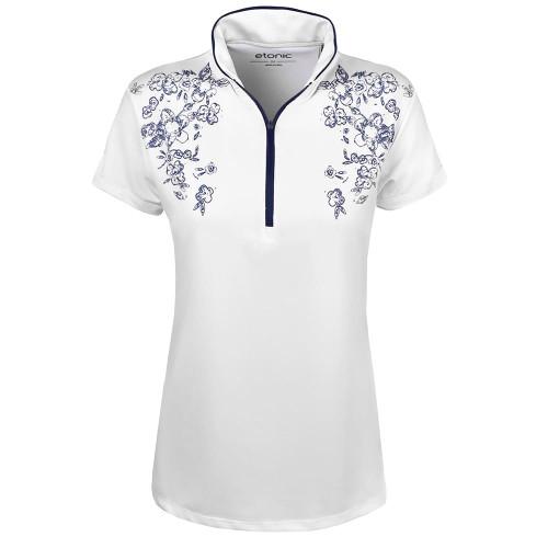 Etonic Golf- Ladies Solid Flora Mock