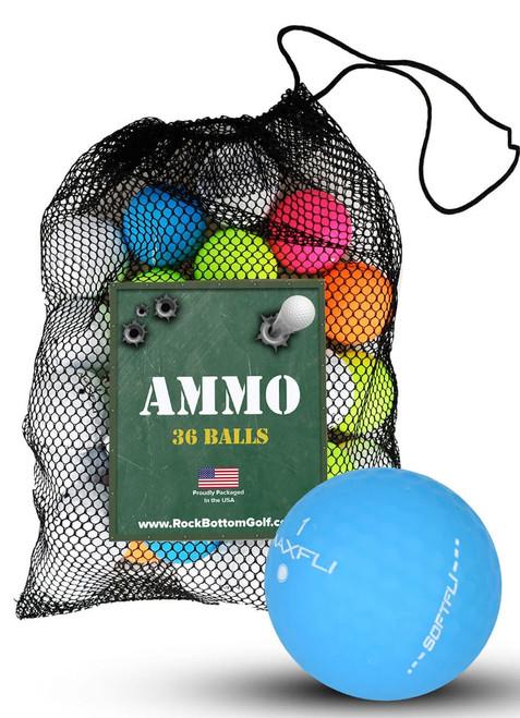 Maxfli Softfli Matte Recycled Near Mint Used Golf Balls [36-Ball]