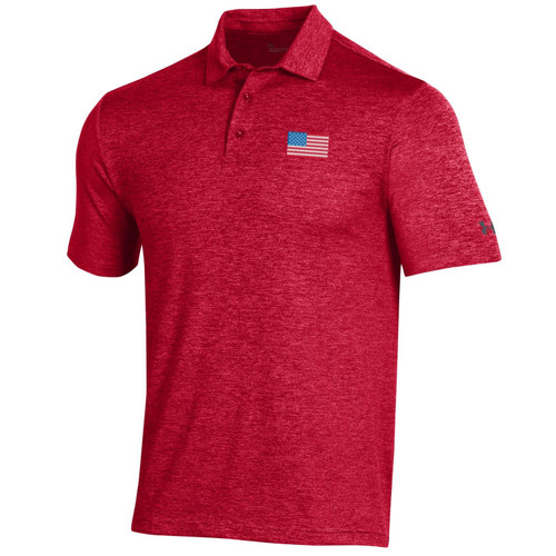 Under Armour Golf- Playoff Heather USA Flag Polo (Red, White & Blue Collection)