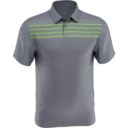 PGA Tour Golf- Short Sleeve Linear Full Frontal Print Polo