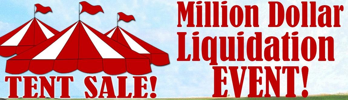 Million Dollar Liquidation Tent Sale Event - Save HUGE on Golf Gear at Rock Bottom Golf