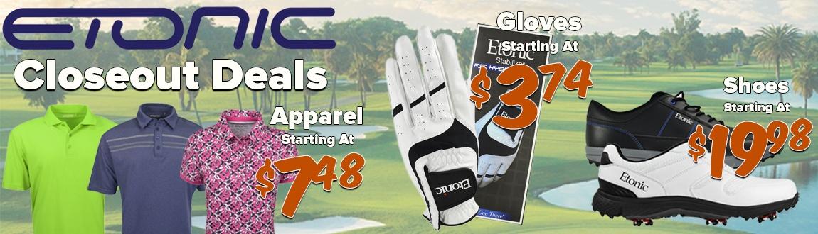 Etonic Golf Gear Closeout Deals!