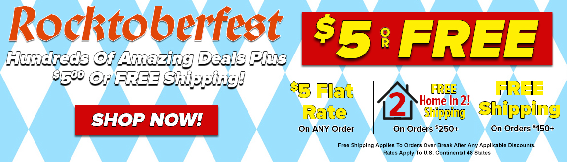 Rocktoberfest At Rock Bottom Golf! Hundreds Of Amazing Deals Plus $5 Or FREE Shipping! Shop Now!