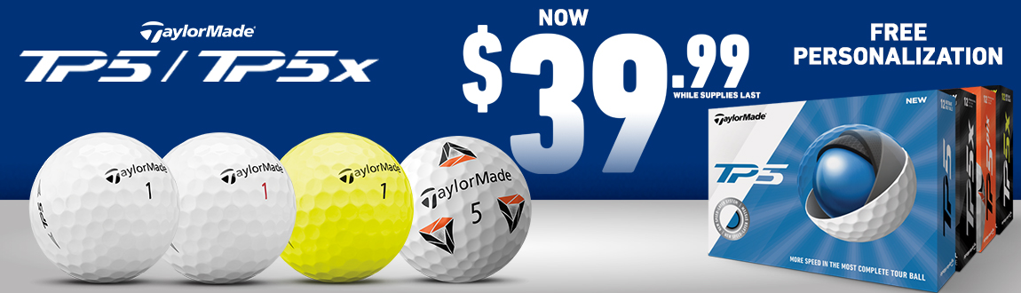 TaylorMade TP5 and TP5x Golf Ball Now $39.99! Free Personalization! Shop Now!