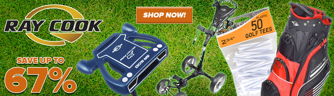 Save HUGE On Ray Cook Golf Clubs, Bags, Carts, and Golf Accessories! Save Up To 67%! Shop Now!
