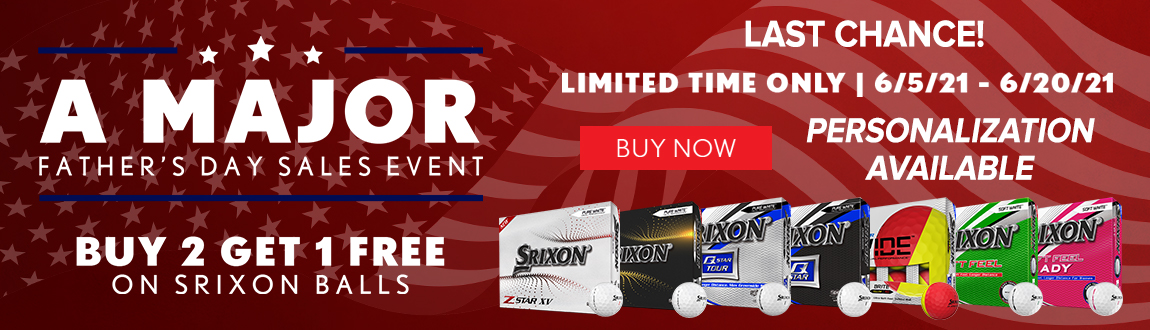 Srixon Golf Buy 2 Get 1 FREE Golf Balls! A MAJOR Fathers Day Sales Event! Personalization Available! Buy Now!