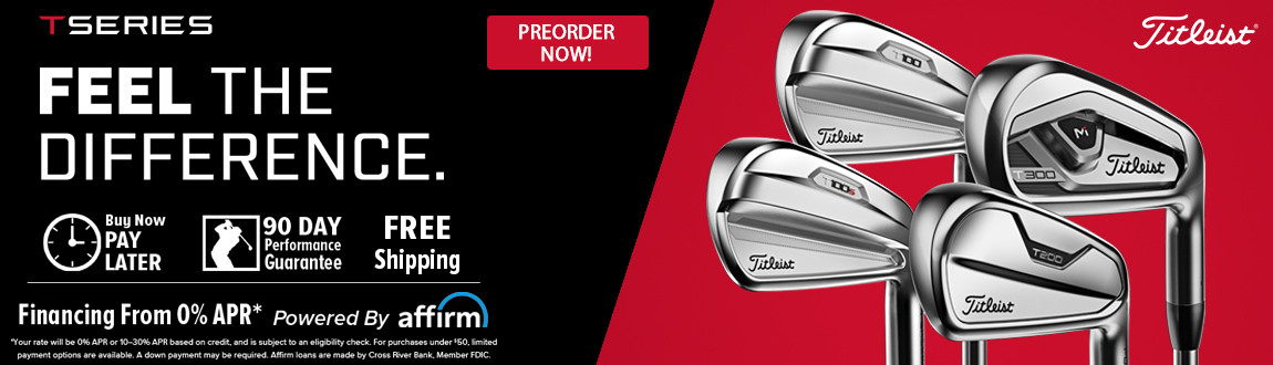 Titleist TSeries Irons! Feel The Difference! Pre-Order Today!
