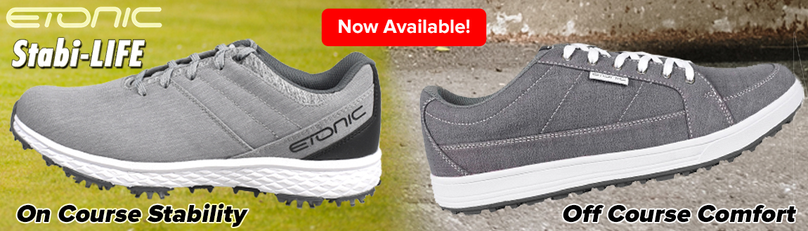 Etonic Golf Stabi-LIFE Golf Shoes! On Course Stability and Off Course Comfort! Shop Now!
