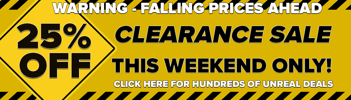 25% Off Golf Gear Clearance! This Weekend ONLY! Click Here For Hundreds Of Unreal Golf Gear Deals!