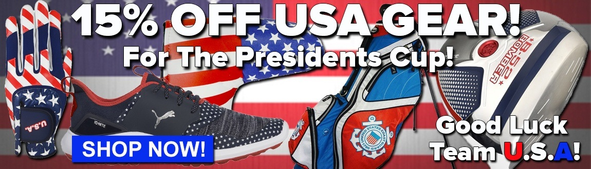 15% Off USA Gear For The Presidents Cup! Go Team USA!