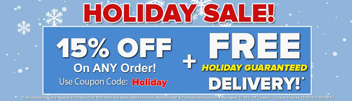 15% OFF + FREE Holiday Guaranteed Delivery!