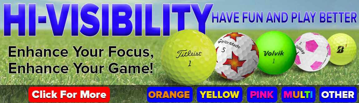 Shop High Visibility Golf Balls At RBG!