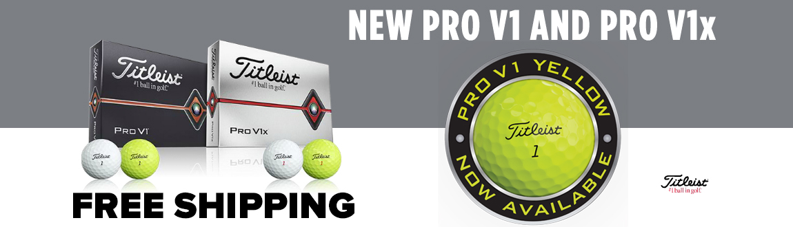 Shop 2019 Titleist Pro V1/V1x Golf Balls At RBG! Now Available In Yellow!