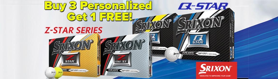 Srixon Golf Balls: Buy 3 Dozen Personalized, Get 1 Dozen FREE!