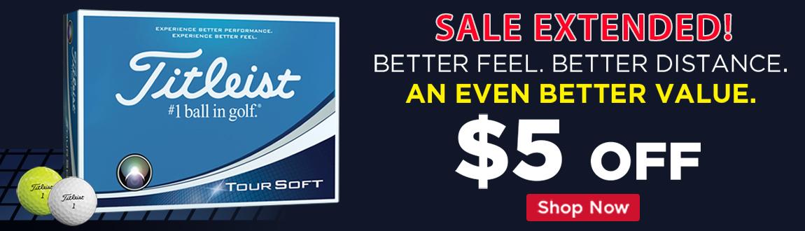 Save $5 On Titleist Tour Soft Balls! Last Chance!