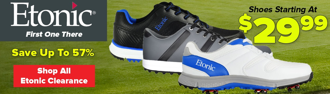 Etonic Closeouts! Shoes Starting At $29.99 - Shop Now!