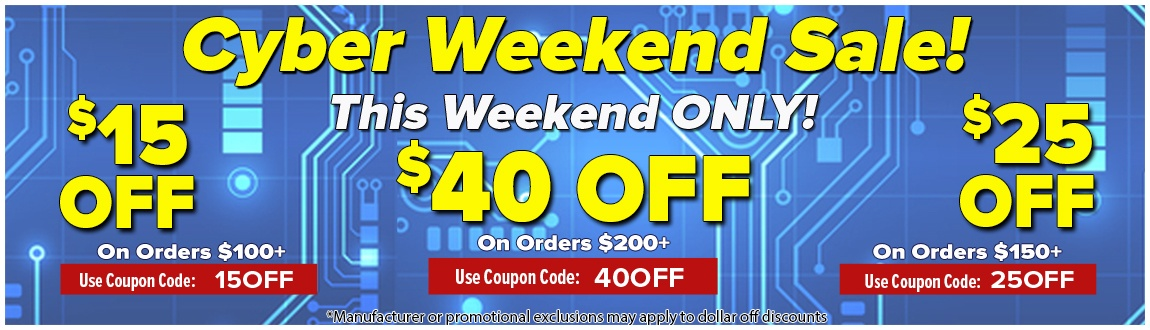Cyber Weekend Sale - Up To $40 OFF Your Order! This Weekend Only!