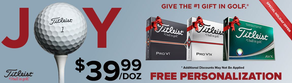 $39.99/Doz Titleist Pro V1 and Pro V1x Golf Balls - A Holiday Special on The #1 Gift In Golf!