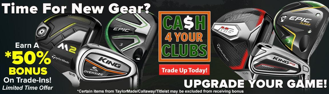Upgrade Your Game w/ RBG'S Trade Up Program! 50% BONUS On Trade-Ins!