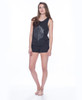 NYC Leaf Reflect Linen Blend Tank and Short