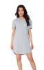 Grey Scoop Neck Nightshirt